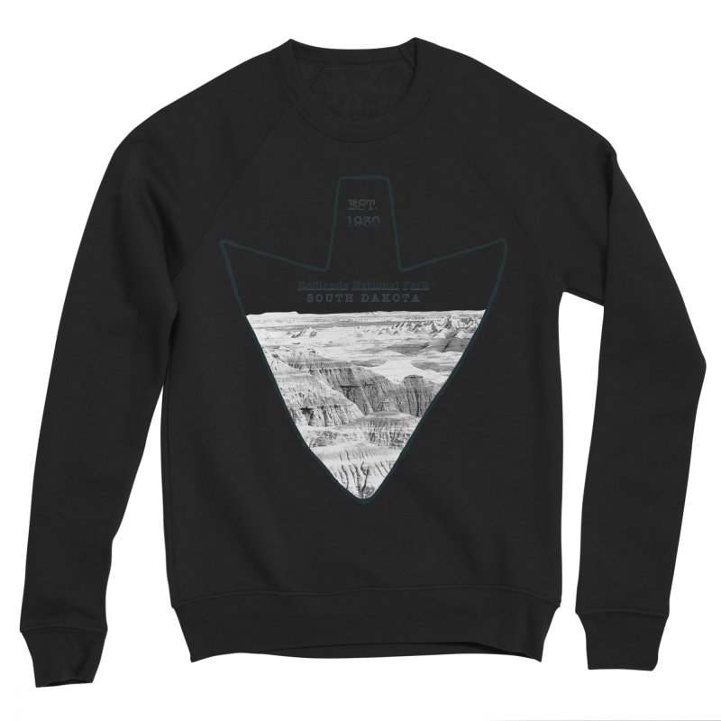 Badlands National Park Arrowhead Men's Sponge Fleece Sweatshirt by Of The Wild by Kimberly J Tilley