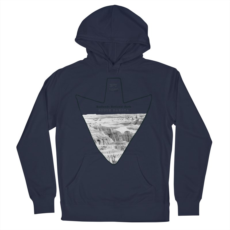Badlands National Park Arrowhead Men's Pullover Hoody by Of The Wild by Kimberly J Tilley