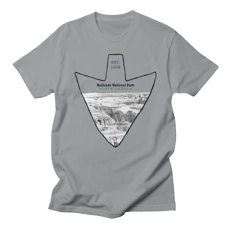 Badlands National Park Arrowhead Men's Regular T-Shirt by Of The Wild by Kimberly J Tilley