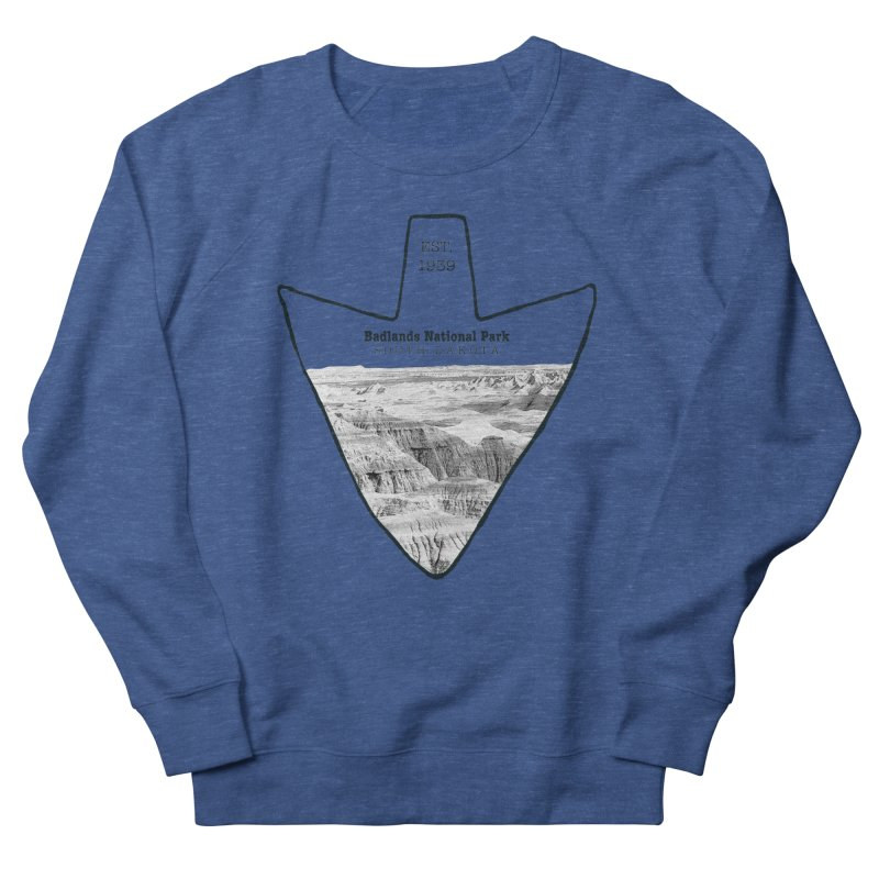 Badlands National Park Arrowhead Men's Sweatshirt by Of The Wild by Kimberly J Tilley
