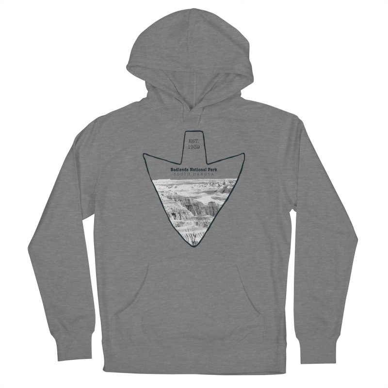 Badlands National Park Arrowhead Women's French Terry Pullover Hoody by Of The Wild by Kimberly J Tilley