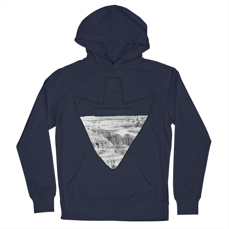 Badlands National Park Arrowhead Men's French Terry Pullover Hoody by Of The Wild by Kimberly J Tilley