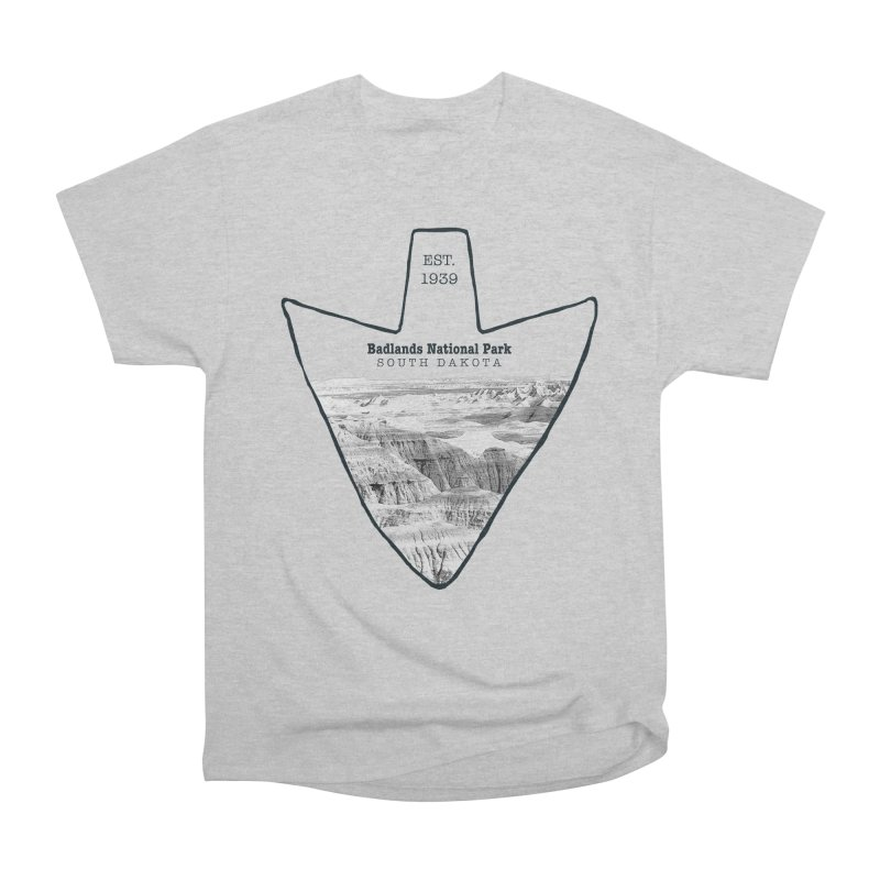 Badlands National Park Arrowhead Men's Heavyweight T-Shirt by Of The Wild by Kimberly J Tilley