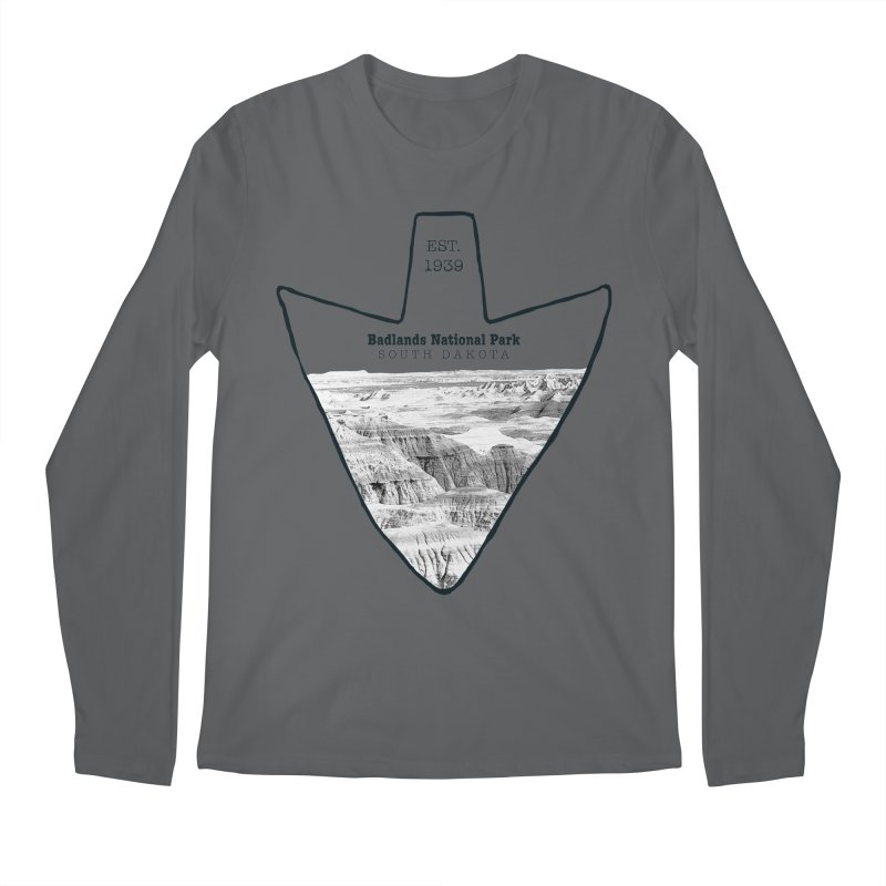 Badlands National Park Arrowhead Men's Regular Longsleeve T-Shirt by Of The Wild by Kimberly J Tilley