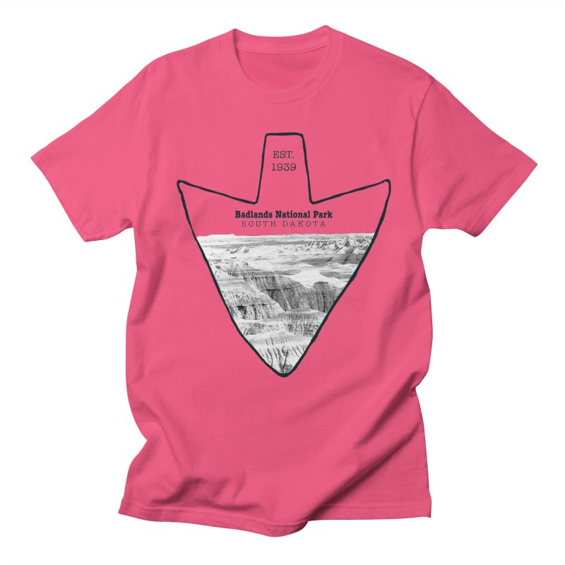 Badlands National Park Arrowhead Men's T-Shirt by Of The Wild by Kimberly J Tilley