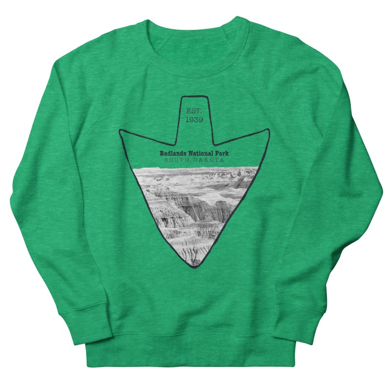 Badlands National Park Arrowhead Women's Sweatshirt by Of The Wild by Kimberly J Tilley