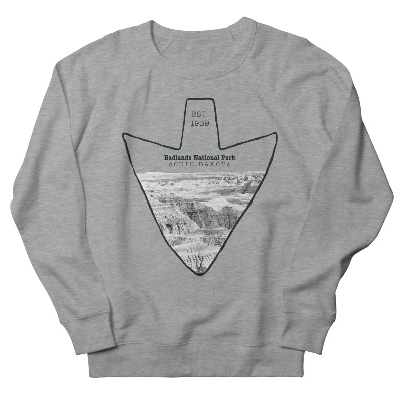 Badlands National Park Arrowhead Men's French Terry Sweatshirt by Of The Wild by Kimberly J Tilley