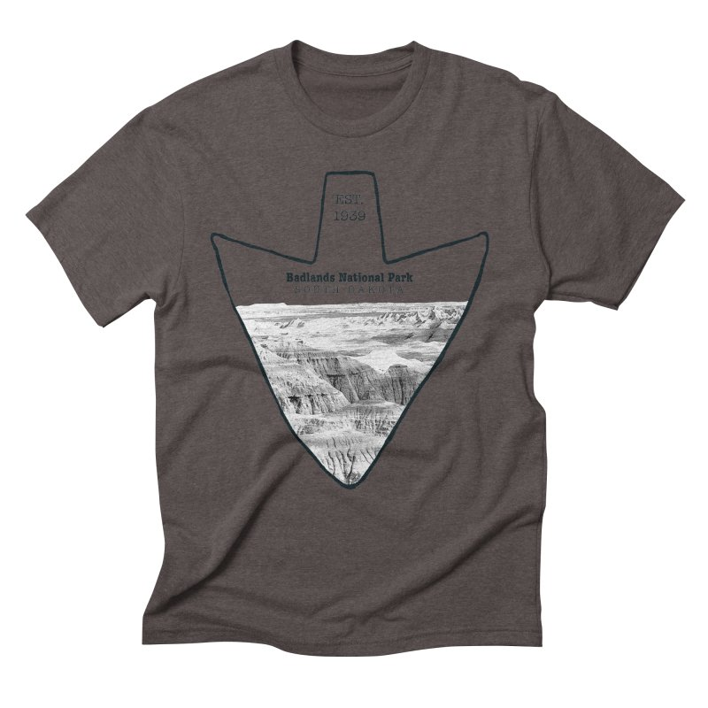 Badlands National Park Arrowhead Men's  by Of The Wild by Kimberly J Tilley