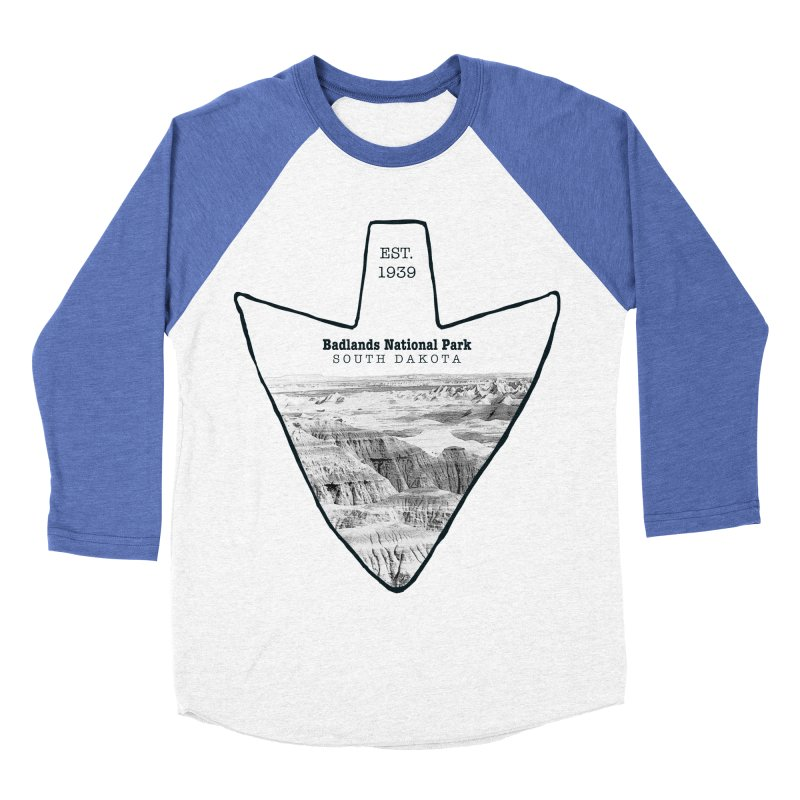 Badlands National Park Arrowhead Women's Baseball Triblend Longsleeve T-Shirt by Of The Wild by Kimberly J Tilley