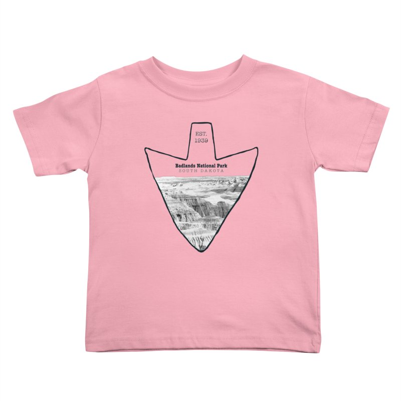 Badlands National Park Arrowhead Kids Toddler T-Shirt by Of The Wild by Kimberly J Tilley