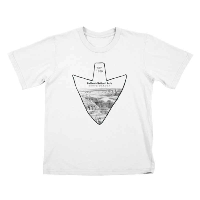 Badlands National Park Arrowhead Kids T-Shirt by Of The Wild by Kimberly J Tilley