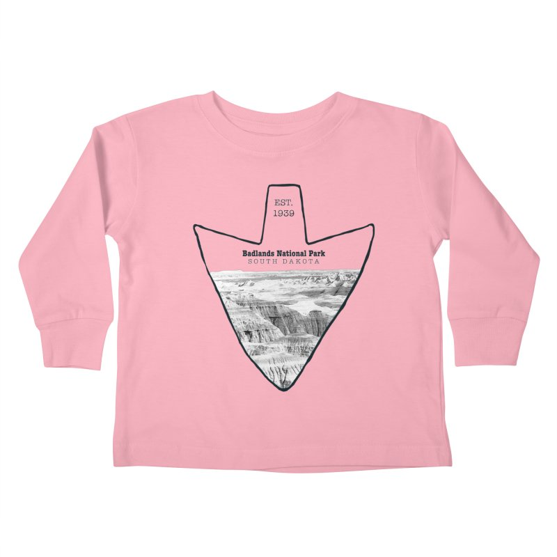Badlands National Park Arrowhead Kids Toddler Longsleeve T-Shirt by Of The Wild by Kimberly J Tilley