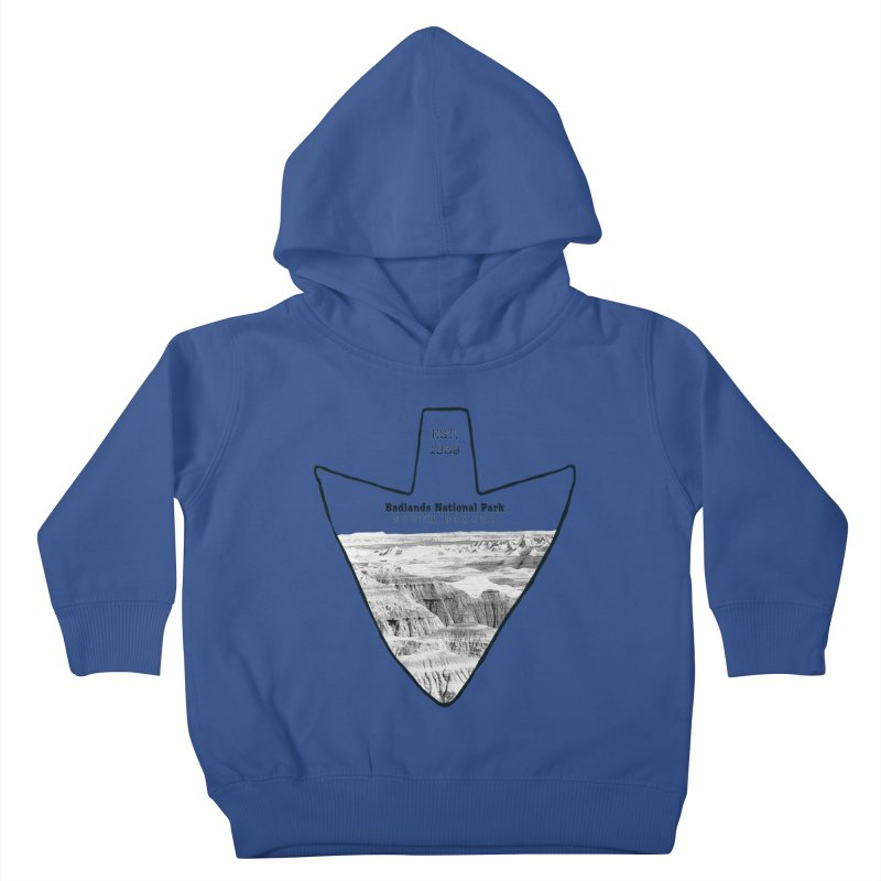 Badlands National Park Arrowhead Kids Toddler Pullover Hoody by Of The Wild by Kimberly J Tilley