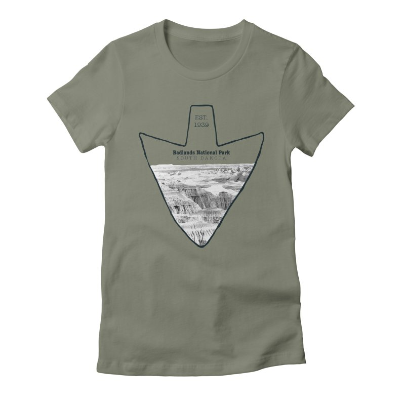 Badlands National Park Arrowhead Women's  by Of The Wild by Kimberly J Tilley