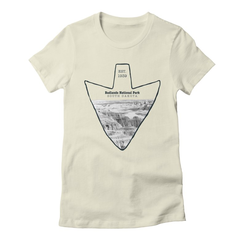 Badlands National Park Arrowhead Women's Fitted T-Shirt by Of The Wild by Kimberly J Tilley