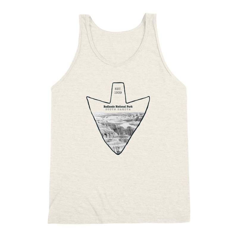 Badlands National Park Arrowhead Men's Triblend Tank by Of The Wild by Kimberly J Tilley