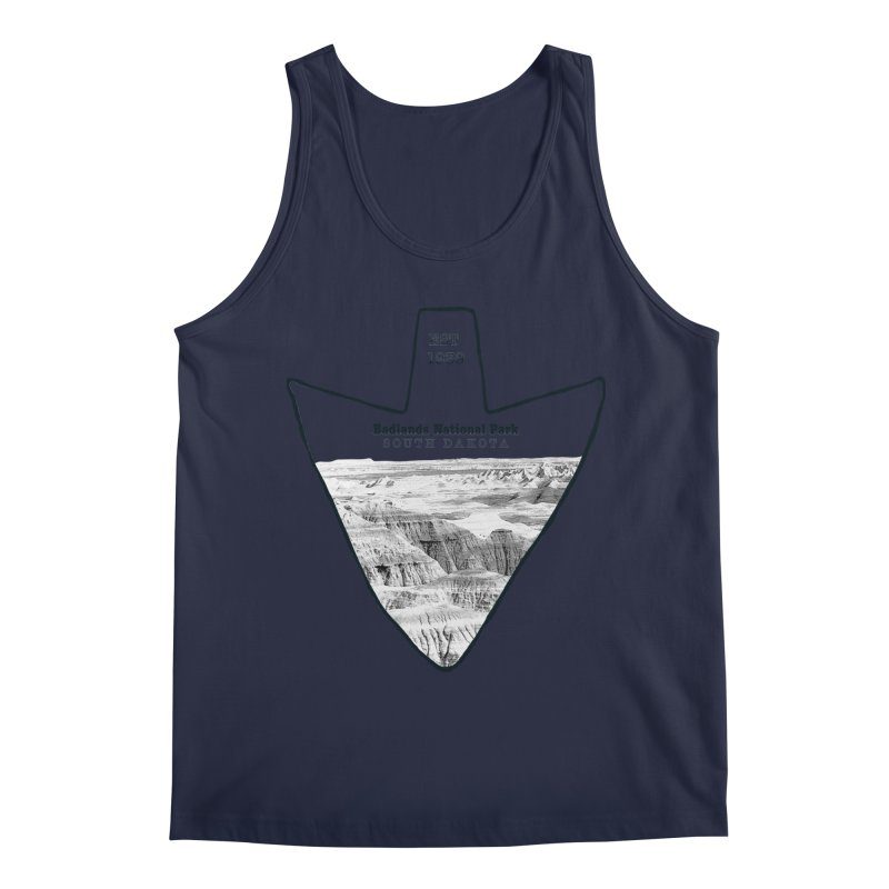 Badlands National Park Arrowhead Men's Regular Tank by Of The Wild by Kimberly J Tilley