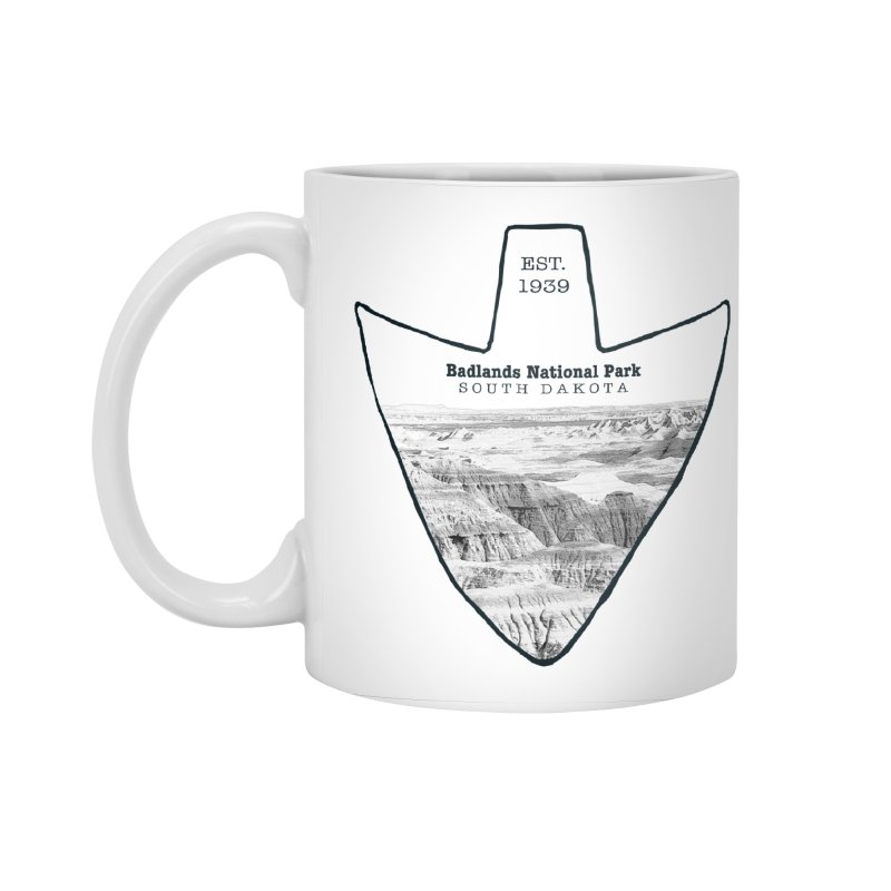 Badlands National Park Arrowhead Accessories Standard Mug by Of The Wild by Kimberly J Tilley
