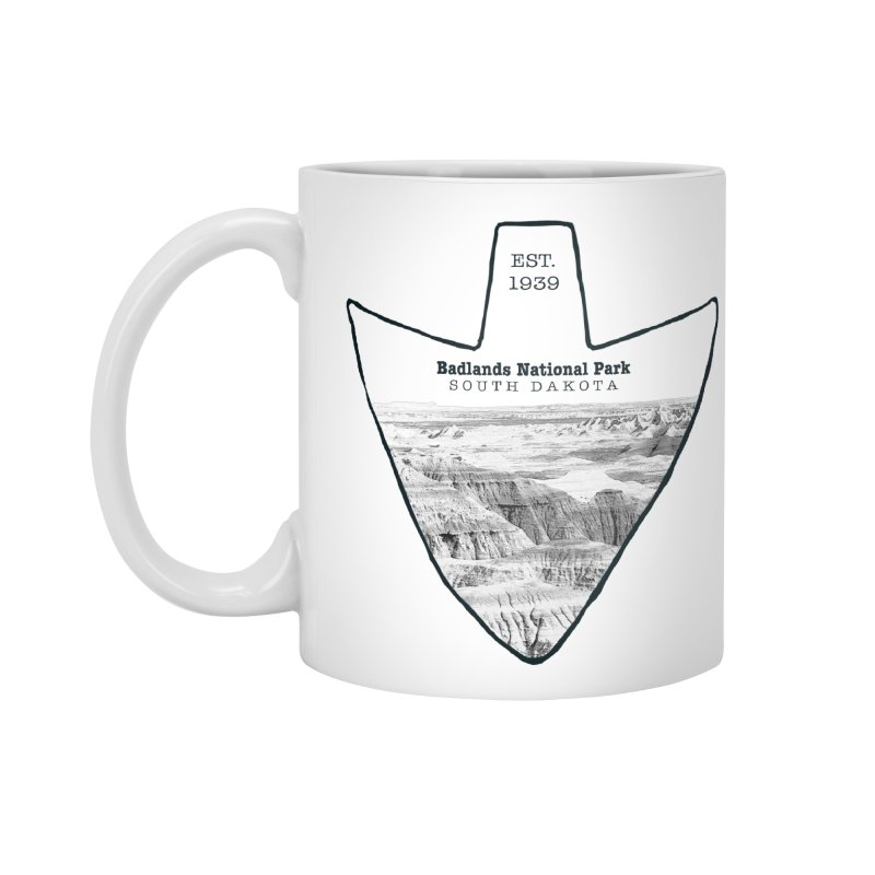 Badlands National Park Arrowhead Accessories Mug by Of The Wild by Kimberly J Tilley