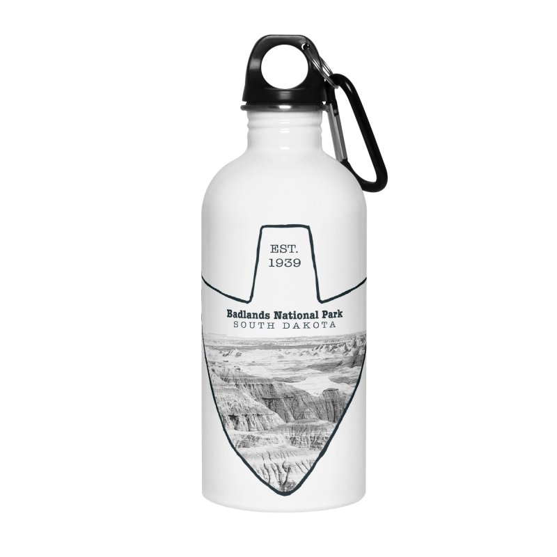 Badlands National Park Arrowhead Accessories Water Bottle by Of The Wild by Kimberly J Tilley