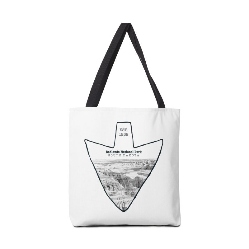 Badlands National Park Arrowhead Accessories Tote Bag Bag by Of The Wild by Kimberly J Tilley