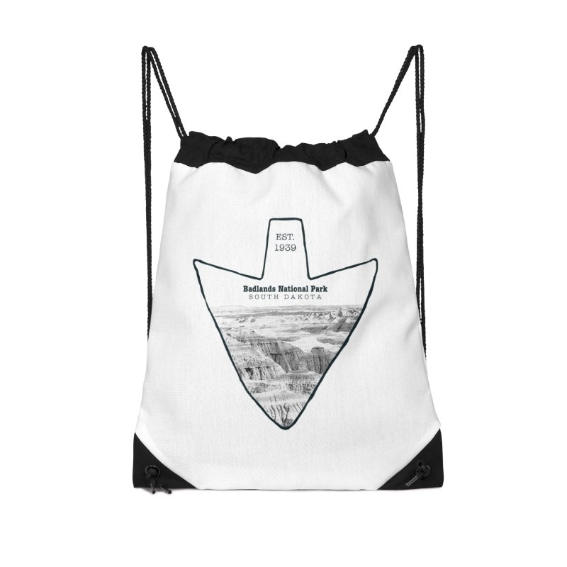 Badlands National Park Arrowhead Accessories Bag by Of The Wild by Kimberly J Tilley