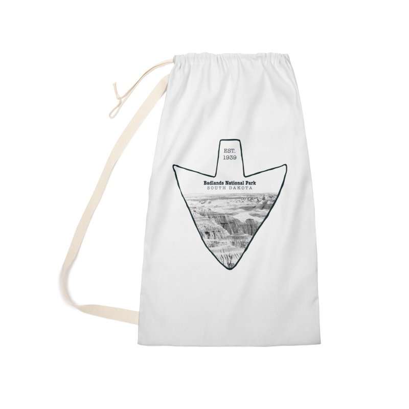 Badlands National Park Arrowhead Accessories Laundry Bag Bag by Of The Wild by Kimberly J Tilley