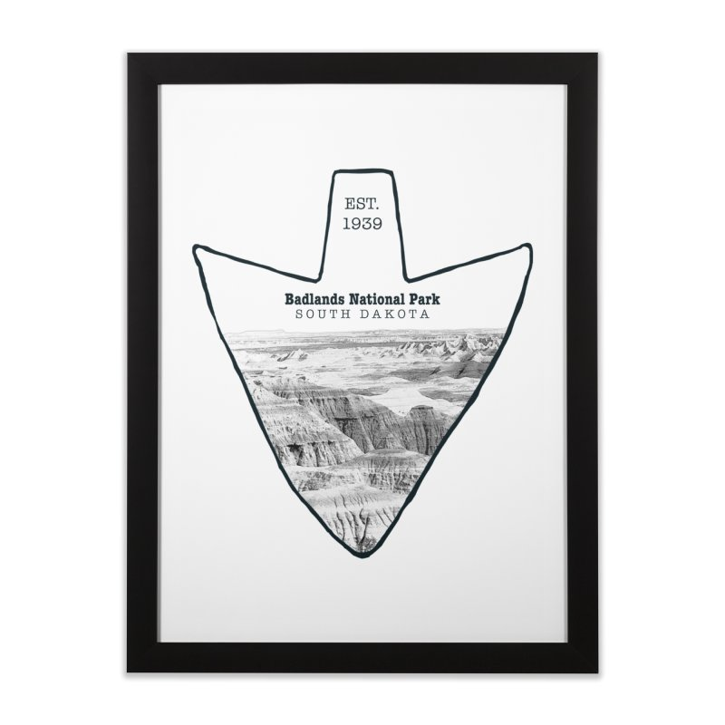 Badlands National Park Arrowhead Home Framed Fine Art Print by Of The Wild by Kimberly J Tilley