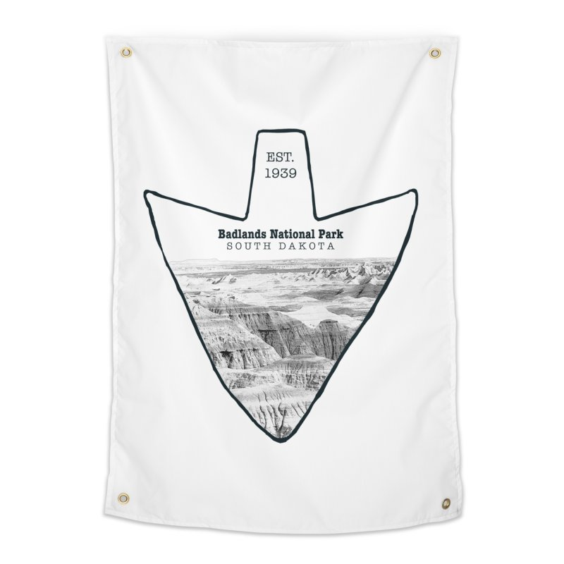 Badlands National Park Arrowhead Home Tapestry by Of The Wild by Kimberly J Tilley