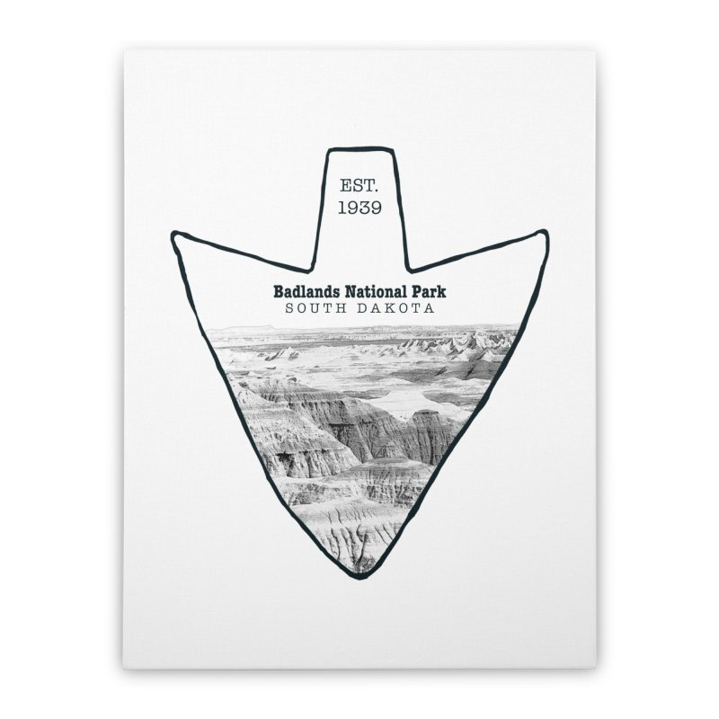 Badlands National Park Arrowhead Home Stretched Canvas by Of The Wild by Kimberly J Tilley
