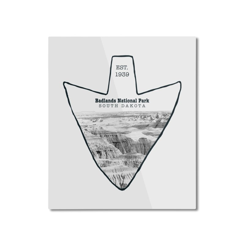 Badlands National Park Arrowhead Home Mounted Aluminum Print by Of The Wild by Kimberly J Tilley