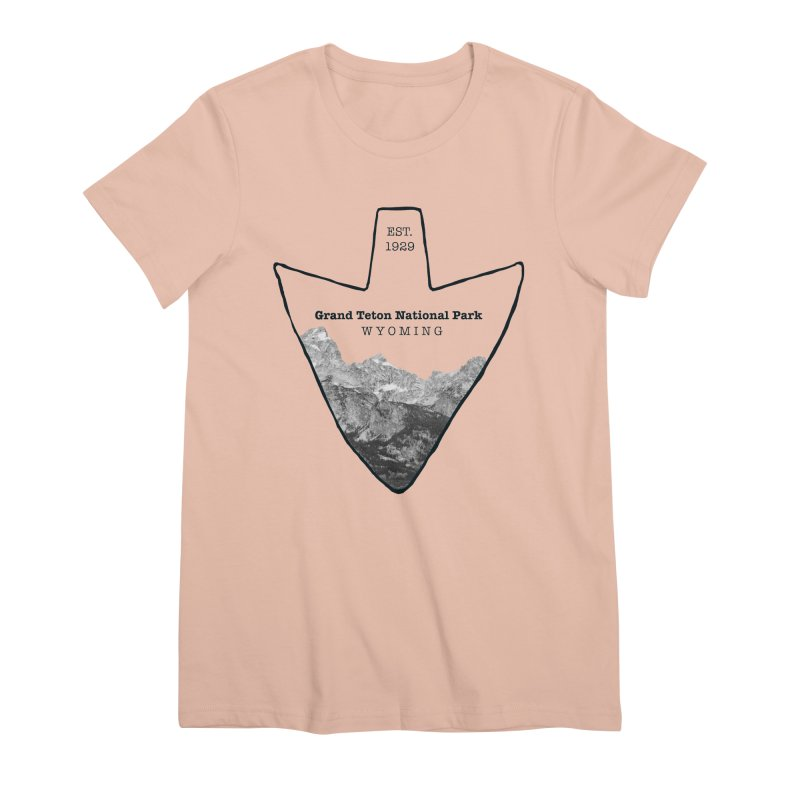 Grand Teton National Park Arrowhead Women's Premium T-Shirt by Of The Wild by Kimberly J Tilley