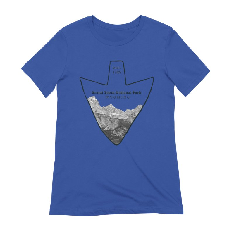 Grand Teton National Park Arrowhead Women's Extra Soft T-Shirt by Of The Wild by Kimberly J Tilley