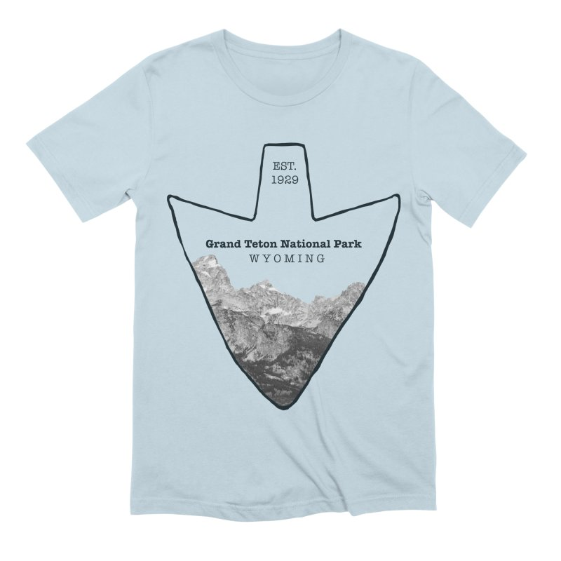 Grand Teton National Park Arrowhead Men's Extra Soft T-Shirt by Of The Wild by Kimberly J Tilley