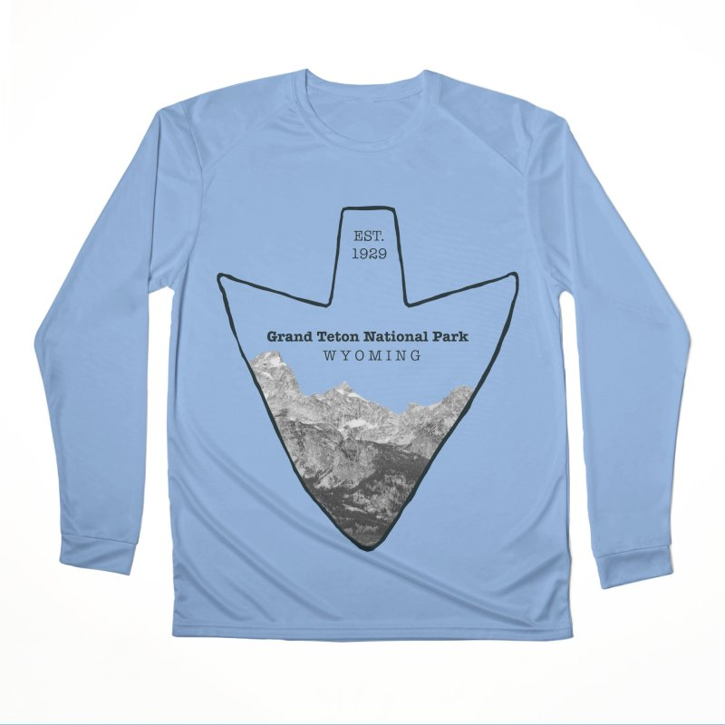 Grand Teton National Park Arrowhead Men's Longsleeve T-Shirt by Of The Wild by Kimberly J Tilley