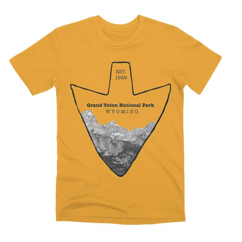 Grand Teton National Park Arrowhead Men's Premium T-Shirt by Of The Wild by Kimberly J Tilley