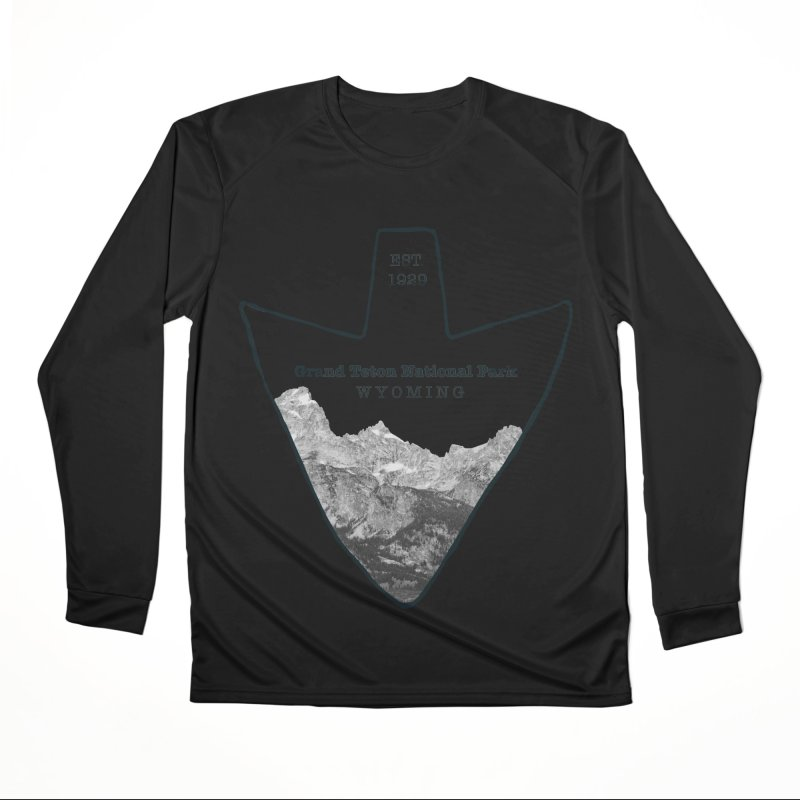 Grand Teton National Park Arrowhead Men's Performance Longsleeve T-Shirt by Of The Wild by Kimberly J Tilley
