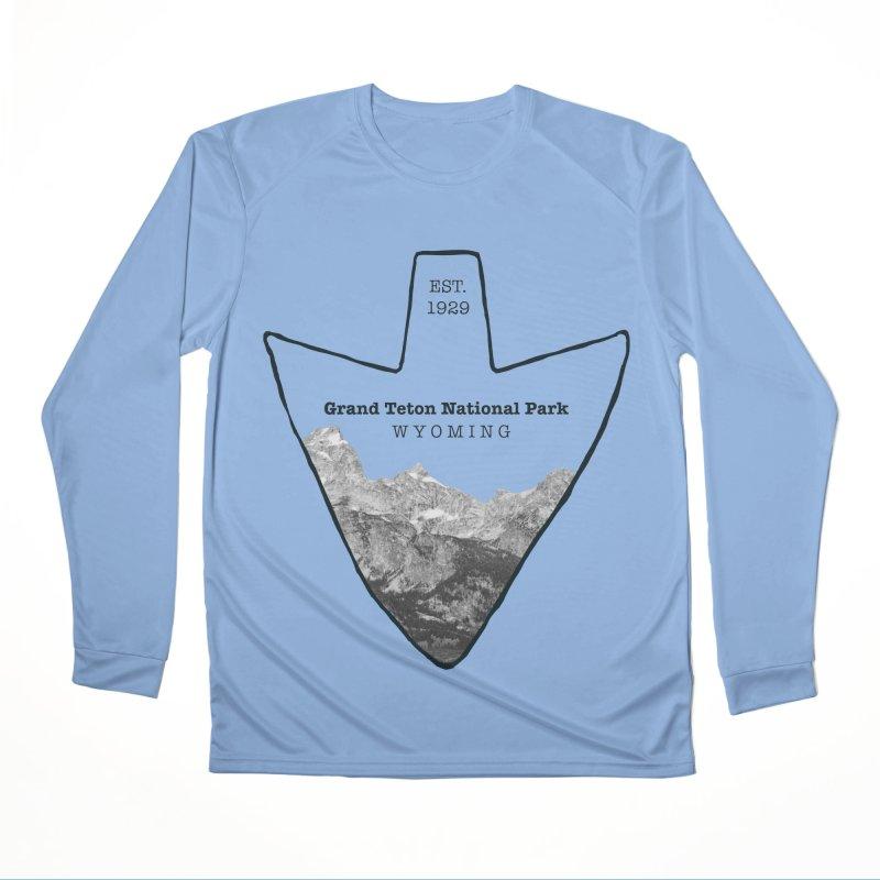 Grand Teton National Park Arrowhead Women's Performance Unisex Longsleeve T-Shirt by Of The Wild by Kimberly J Tilley