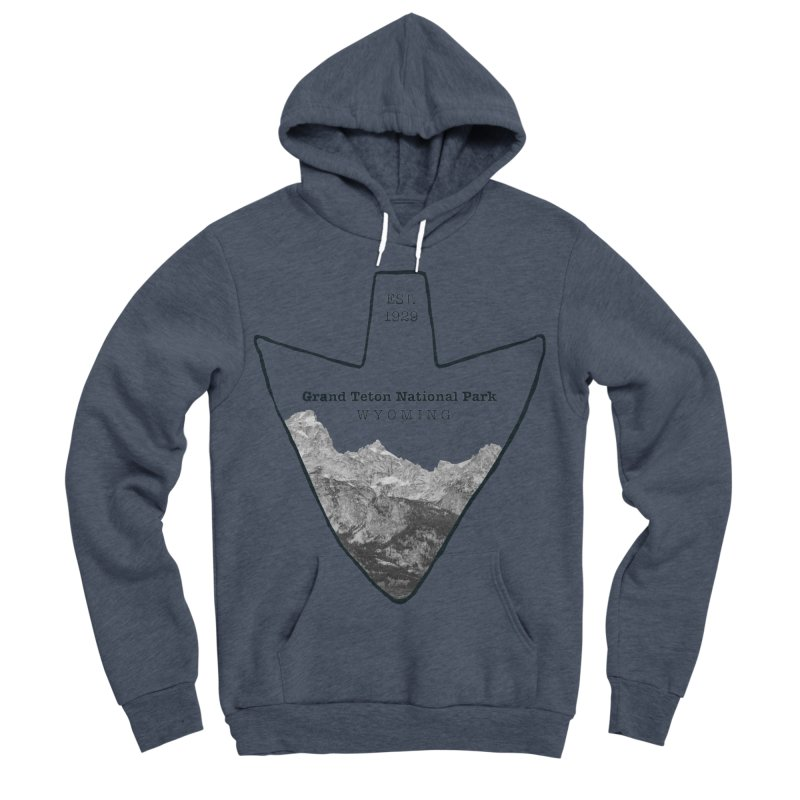 Grand Teton National Park Arrowhead Men's Sponge Fleece Pullover Hoody by Of The Wild by Kimberly J Tilley