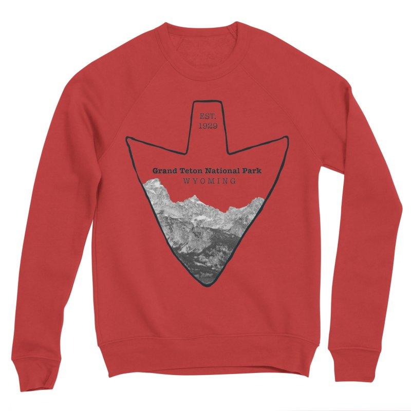 Grand Teton National Park Arrowhead Men's Sponge Fleece Sweatshirt by Of The Wild by Kimberly J Tilley