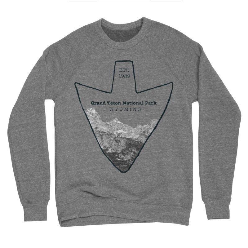Grand Teton National Park Arrowhead Women's Sponge Fleece Sweatshirt by Of The Wild by Kimberly J Tilley