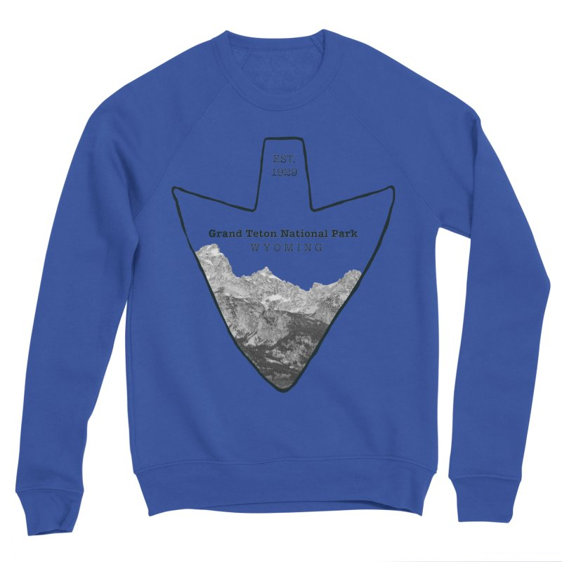 Grand Teton National Park Arrowhead Men's Sponge Fleece Sweatshirt by Of The Wild by Kimberly J Tilley