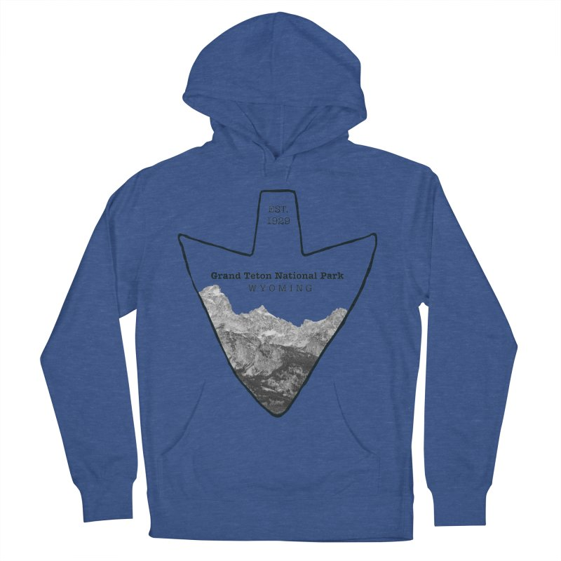 Grand Teton National Park Arrowhead Women's French Terry Pullover Hoody by Of The Wild by Kimberly J Tilley