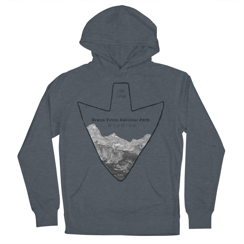 Grand Teton National Park Arrowhead Men's French Terry Pullover Hoody by Of The Wild by Kimberly J Tilley
