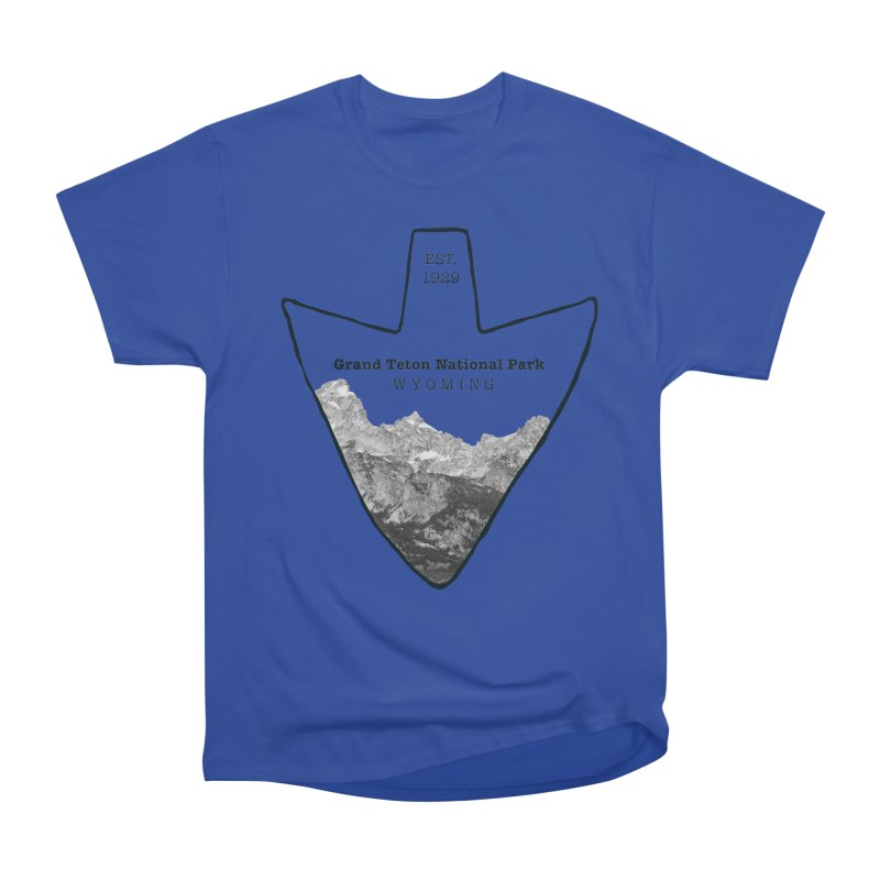Grand Teton National Park Arrowhead Women's Heavyweight Unisex T-Shirt by Of The Wild by Kimberly J Tilley