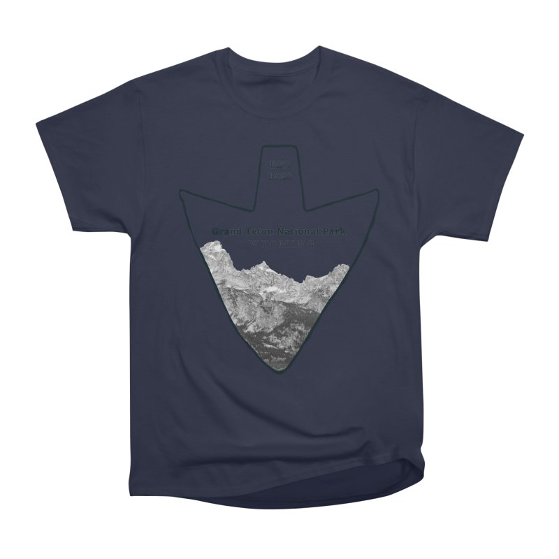 Grand Teton National Park Arrowhead Men's Heavyweight T-Shirt by Of The Wild by Kimberly J Tilley