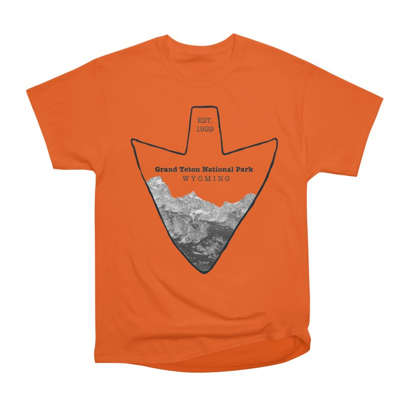 Grand Teton National Park Arrowhead Women's Heavyweight Unisex T-Shirt by Of The Wild by Kimberly J Tilley