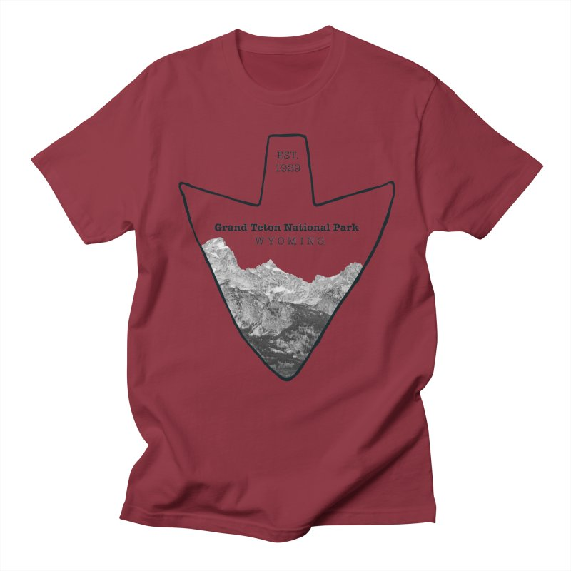 Grand Teton National Park Arrowhead Women's Unisex T-Shirt by Of The Wild by Kimberly J Tilley