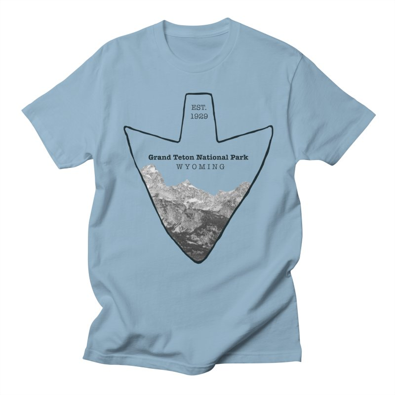 Grand Teton National Park Arrowhead Men's Regular T-Shirt by Of The Wild by Kimberly J Tilley