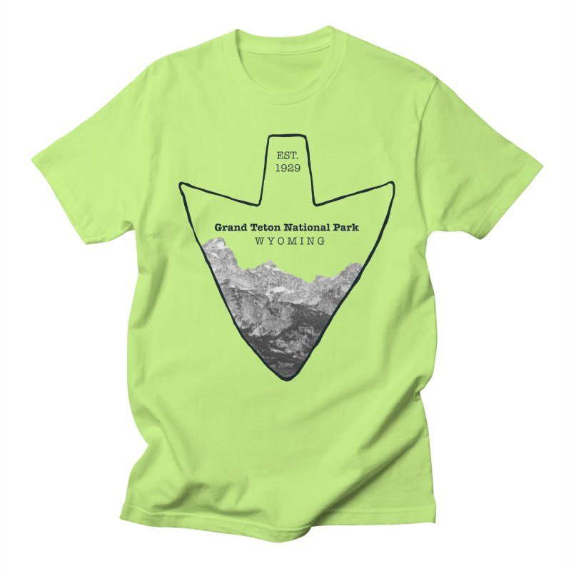 Grand Teton National Park Arrowhead Men's Regular T-Shirt by Of The Wild by Kimberly J Tilley